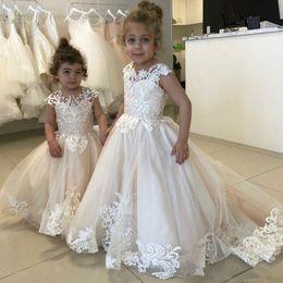 $enCountryForm.capitalKeyWord Australia - Beads Crystal Sequins Flower Girl Dress 2018 Little Girls Pageant Dresses Ball Gown Flower Girls Formal Tutu Party Dress for Kids