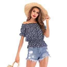 $enCountryForm.capitalKeyWord Canada - Slash Neck Sexy Puff Sleeve chiffon Blouse Women Stylish Summer Tops Streetwear Fashion Shirts Fitted Waist Slim Tees