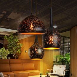 $enCountryForm.capitalKeyWord NZ - Nordic loft retro cafe bar iron etching lampshade pendant lamp single head bar restaurant industrial wind rust pendant lights