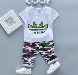 Branded Baby Kids Clothes Australia - brand baby boys & girls tracksuit kids tracksuits kids T-shirts and pants 2 pcs sets kids clothing hot selling new fashion 2019 summer.