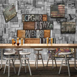 modern beds for kids Canada - custom size 3d photo wallpaper livingroom bed room kids room mural graffiti metal letters 3d picture sofa TV backdrop wallpaper wall sticker
