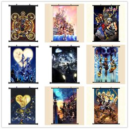 anime picture Australia - Anime Manga Kingdom Hearts Wall Scroll Painting 40x60 Picture Wallpaper Stickers Poster 001