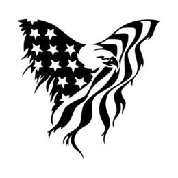 body flags 2019 - American Eagle Flag Vinyl Decal Sticker Jdm Car Bumper Window Notebook Accessories Decorative Personality cheap body fla