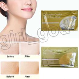 Nails Mask Australia - Crystal Collagen Gold Powder Bag Neck Bag Mask gold white Crystal Neck Mask Moisture Essence Top Quality