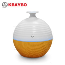 red oil light Australia - USB Ultrasonic 130ml Aroma Essential Oil Diffuser Aromatherapy Mist Maker Humidifier with 7 Color LED Light Y200416