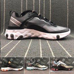 Ingrosso nike Air max Epic React Element 87 uomo donna Reacts Element Undercover Scarpe da corsa Designer thea mesh Traspirante chaussure homme Sneakers Calzature sportive Scarpe da