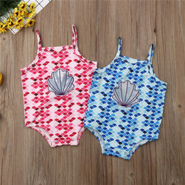 3t bathing suits Canada - Cute Baby Girl Swimwear Mermaid Toddler Bathing Suit Kid One Piece Swimsuit Kids Girls Swimming Costume Suit Bodysuits Biquini