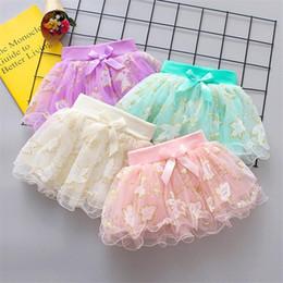 $enCountryForm.capitalKeyWord Australia - INS Designs Little Girls Summer Leaf Gilding Gauze Skirt Short Dance Skirt Baby Girls TUTU Skirts Princess Party Wear Lovely Child Clothing