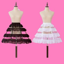 White Short Petticoat Australia - New Style Petticoats 3 Hoops Short Ruffle Underskirt Crinoline for Wedding Bride Formal Dress White Black Lo Lita Wedding Accessories