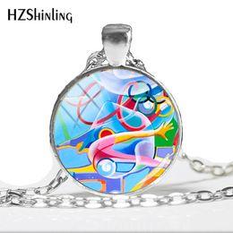 Gymnastics Pendants Australia - 2019 NEW I love Gymnastics Necklace Keep Calm And Love Gymnastics Pendant Glass Dome Pendants Round Hand Craft Jewelry HZ1