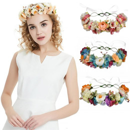 hair mint Australia - Country Flower Bridal Floral Crown Cute Hair Band Wreath Mint Head Wreath Wedding Headpiece Bridesmaid Women Hair Accessories CPA1893
