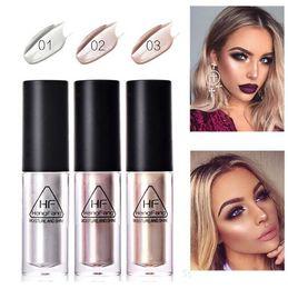 Face Glow Cream Australia - Hengfang Brand Makeup Gold Highlighter Liquid Cosmetic Face Contour Brightener Glow Shimmer Liquid Highlighter Makeup Kit 1PC