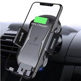 Wholesale Car Qi Wireless Charger For iPhone X XR Xs Max Automatic Clamping Wireless Car Charger For Samsung S10 Air Vent Phone Holder Mount Bracket