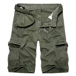 Green Bermuda Shorts Australia - Shorts army green Coon Shorts men Loose Multi-Pocket Summer Mens Cargo Homme Casual Bermuda Trousers -y