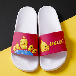 $enCountryForm.capitalKeyWord NZ - B072 Cartoon Slides Women Summer Slippers Cute Chick Soft Sole Home Slippers Indoor & Outdoor Ladies Sandals Women Shoes Flip Flops