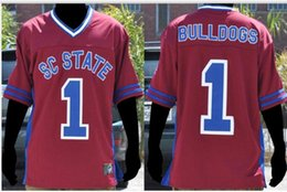 female football jerseys UK - Custom Men Youth women #1 South Carolina State Female BULLDOGS Football Jersey size s-5XL or custom any name or number jersey
