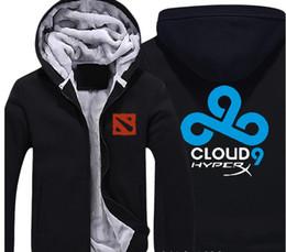 Clouds Jacket Australia - LOL DOTA2 Hoodie Team CLOUD 9 SECRET WINGS Dk VICI GAMING Jackets Coats Winter Thick Flannel Sweatshirts For Men And Women