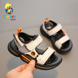 genuine leather fashion kids sandals UK - Babaya Children's Sandals Boys Beach Shoes Kids Shoes Soft 2020 Summer New Breathable Boys Fashion Sandals