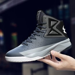 315e1a3ff81e Spring and Summer Basketball Couples Wear Men s Shoes with Anti-Slip Wear  Wear Increase Thick Bottom High Shoes Students Casual Shoes