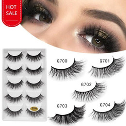 $enCountryForm.capitalKeyWord Australia - 3D Mink Eyelash 5 pairs False Eyelashes Handmade Nature Long Fake Eye Lashes Extension Eyelash Hair 5 Pairs Box free shipping