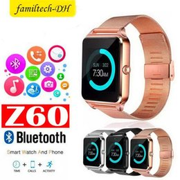 $enCountryForm.capitalKeyWord Australia - Z60 Smart Watch 1.54 inch Bluetooth Smart Wrist watch Support SIM TF Card Wristband For IOS Android Camera Fitness Tracker Bracelet