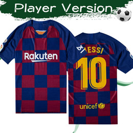 Wholesale Player Version MESSI Home Soccer Jerseys GRIEZMANN Soccer Shirts F DE JONG Football Uniforms Size S XL