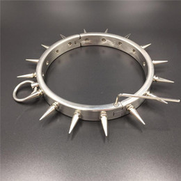 Bdsm Gears Australia - Heavy Metal Stainless Steel Bondage Gear Spikes Device Slave Collar Rings Fetish Sex Toys For Sex BDSM