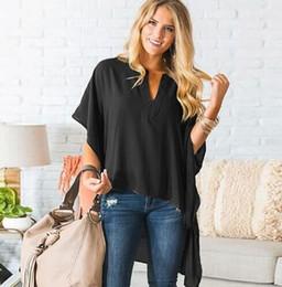 c9dbf6de7b910 New arrival front short back long chiffon t shirt women casual t shirts top  3 colors factory wholesale
