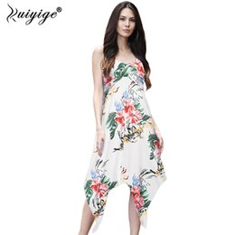 $enCountryForm.capitalKeyWord Australia - Summer Floral Print Elastic Dovetail Dress Boho Tunic Sleeveless Casual Dresses Women 2018 Party Midi Beach Vestidos T190606