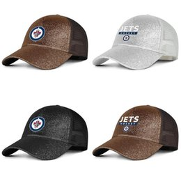 cups for printing Australia - Winnipeg Jets primary logo Unisex maroon Hat Women's Cool Adjustable for Mens Mesh Cap Snapback Cotton 2018 Stanley Cup Playoffs font