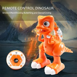 $enCountryForm.capitalKeyWord NZ - 2CH Remote Control Robot Dinosaur with Shooting Bullet Smoke Effect LED light Sound Gifts Kids Toys RC Robot