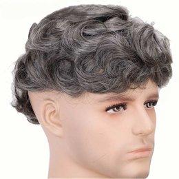 Vente en gros Livraison Gratuite Noir Blanc Couleur Toupee pour Full Lace Wig Hommes vous rend plus confiant et charmant