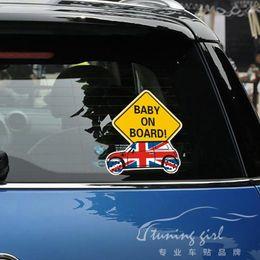 $enCountryForm.capitalKeyWord Australia - Car Stickers Mini Cooper Baby In Car Baby On board Cartoon Great Britian Lovely Creative Decals Auto Tuning Styling 14x13cm D11