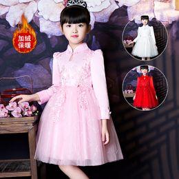 d5c411aca7acf Children's autumn dress skirt long sleeves 3-15 years old big children's  national costumes girls princess dress a generation