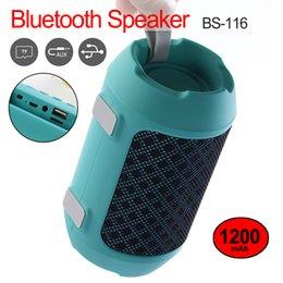 Wholesale Multi Function Speakers Australia - BS116 Mini Bluetooth speaker portable wireless speaker multi function Bluetooth Stereo bass effect outdoor speakers