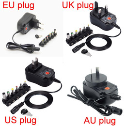 6v power adapter UK - 12W Universal AC Wall in Power Adapter 3v 4.5v 5v 6v 7.5v 9v 12v 300mA charger with 6 pieces connection tip power supply