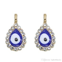 Evil Eye Pendants Turkey Australia - 50pcs New Turkey Evil Eye Necklace Bracelet Pendant Accessories Blue Fashion Jewelry Protection Men's and Women's Handmade wholesa