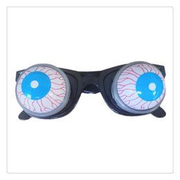 Funny horror prank toys online shopping - Funny Horror Out Eyes Glasses Dropping Eyeball Glasses for Halloween Costume Parties Prank Joke Toy Flexible Spring