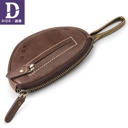 Men Key Case Australia - Dide 2018 High Quality Men Key Holder Wallet Genuine Leather Car Key Case Vintage Business Keychain Men Housekeeper Key Bag Y19052202
