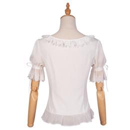 $enCountryForm.capitalKeyWord Australia - White Shirt Short Sleeve Ruffles Lolita Blouse With Lace