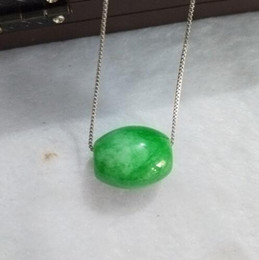 Bamboo Necklace Beads Australia - yuan natural jade pendant emerald bead necklace women