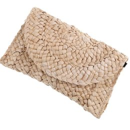 $enCountryForm.capitalKeyWord Australia - Bohemian Women Straw Bag New Fashion Clutch Bags Female Handbag Handmade Rattan Bag Corn Peels Woven Summer Casual Beach Pocket #33242