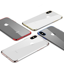 $enCountryForm.capitalKeyWord Australia - 3 in 1 Electroplate Gilded Plating Case Ultra Thin Slim Soft TPU Clear Transparent Shockproof Cover Skin For iPhone X 8 7 Plus