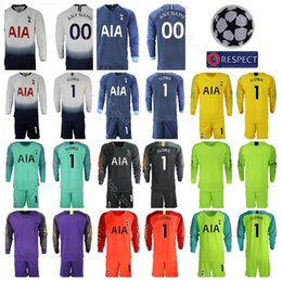 91ea9277b Hot Spur 2018 2019 Long Sleeve 1 Hugo Lloris Goalkeeper Soccer Jersey Set  GK Goalie 13 Vorm 22 Gazzaniga Football Shirt Kits Uniform