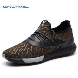 Men Fashion Brand Sneakers Shoes Australia - GNORNIL Brand Men Casual Shoes Sneakers 2019 Spring Fashion Fly Weaving Trainers Men Shoes Non-Slip Rubber Sole Male Sport