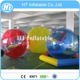 inflatable hamster Australia - Free Shipping 2PCS High Quality Transparent Inflatable Water Walking Ball for Water Game Inflatable Human Hamster Ball For Sale