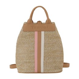 $enCountryForm.capitalKeyWord UK - Fashion Straw Woven Backpack Special Two way using Women Knapsack Large Capacity Straw Backpack