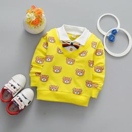 97987dab2bd8 Newest 2019 Spring Baby Boys T Shirt Cartoon Bear Kids T Shirt Infant  Cotton T Shirt Fashion Casual Lapel Children Tops Tees