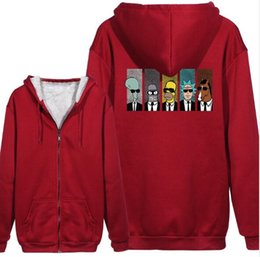 Wholesale hoodie animation for sale – custom fashion new style European and American animation print Hoodies streetwear Men and women zipper Sweatshirt