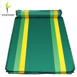 double beds mattresses UK - FLYTOP Camping Double Mat Outdoor Mattress Self-inflating Beach Mat Air Mattress With Inflatable Pillow Air Bed Sleeping Pad